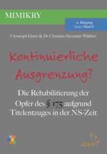 Christian-Alexander Wäldner, Zwangsarbeit im Rahmen des Ausländereinsatzes in der Region Hannover, MIMIKRY, Wissenschaft, scius-Verlag